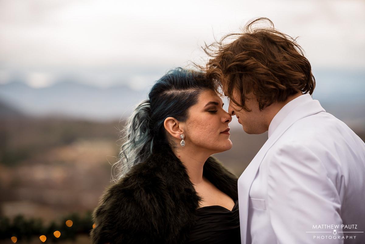 Crest center wedding photos | Bride in black wedding dress