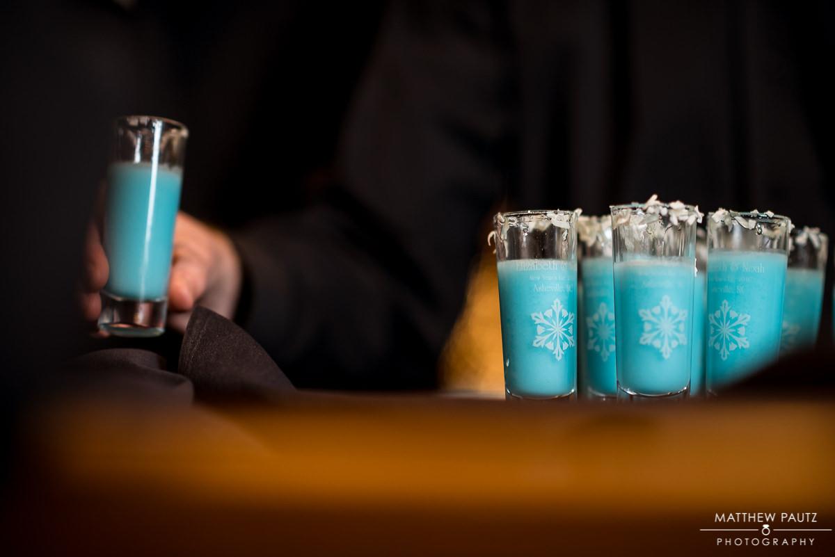 Personalized wedding shotglasses keepsake