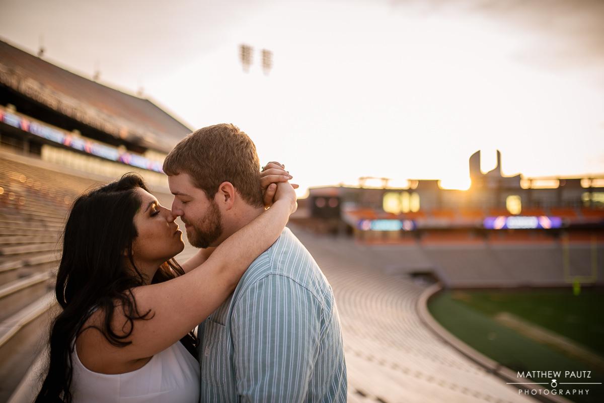 Death Valley stadium engagement photos