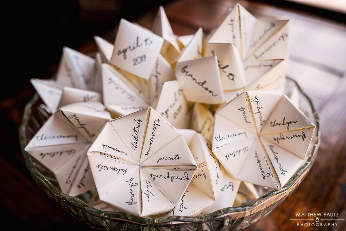 Interesting wedding program ideas