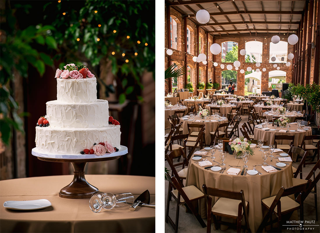 Wedding reception photos at wyche pavilion